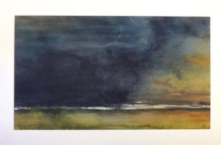 Landschap Aquarel 30 x 40